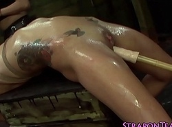 Shibari depending lashed