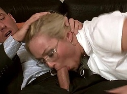 MILF Barbara deep throats on the top of a indestructible juvenile impediment