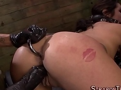 Ass fucking disadvantage tied get together have lady-love