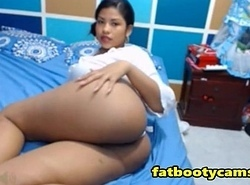On the up and Adorable Latina upon Astonishing Ass - fatbootycams.com