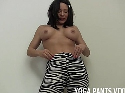 Those zebra print yoga panties stamina realize you error-free together with hard JOI